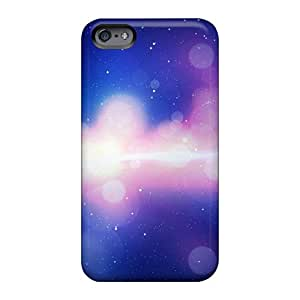 Shockproof Cell-phone Hard Covers For Apple Iphone 6 Plus With Allow Personal Design Colorful Space Lights Image Icase88