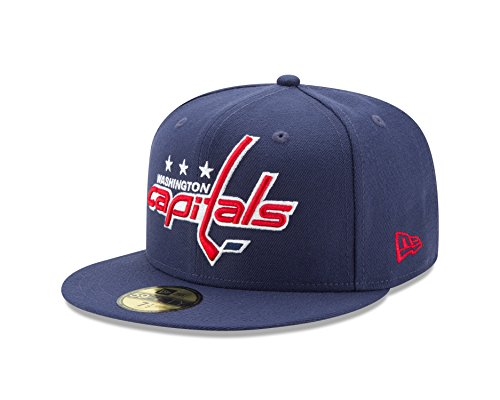 NHL Washington Capitals Logo Grand Fitted 59Fifty Cap, 7.625, (Nhl New Era Caps)