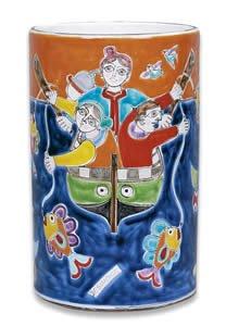 Hand Painted De Simone Vase - Handmade in Sicily