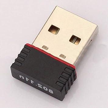CamKpell Mini PC Adaptador WiFi USB Antena WiFi Tarjeta de ...
