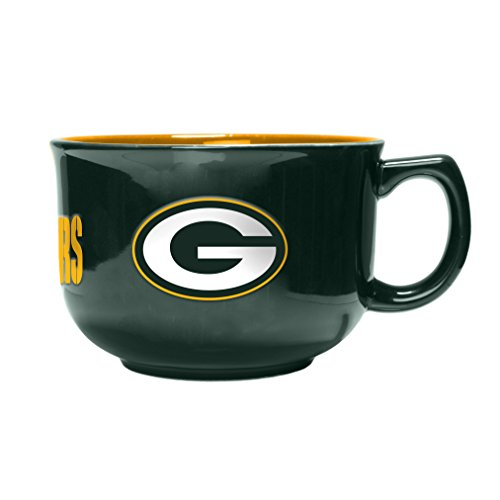 NFL Green Bay Packers Sculpted Bowl Mug, 32-ounce Green Bay Packers Soup