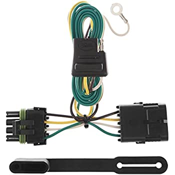curt 55315 vehicle-side custom 4-pin trailer wiring harness for select  chevrolet, gmc pickup trucks