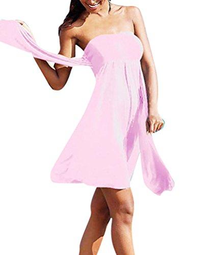Capestro Abito Spiaggia Donna Maniche Senza Colore Pink Vestito Puro aFdn4wqn6