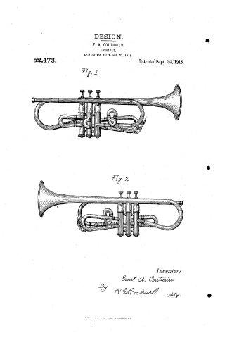 1918 COUTURIER D52473 trumpet patent 2