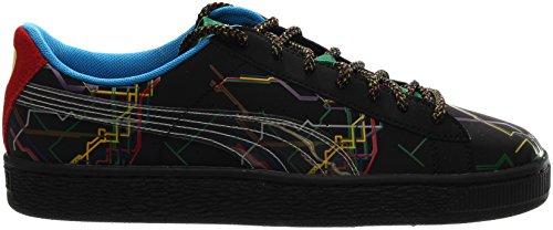 Puma Basket X Dee & Ricky Sneakers Uomo In Pelle Multicolor Tinta Unita Nero