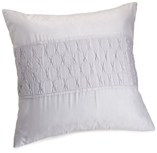 Calvin Klein Home Blush Gathered Tuck Pillow, Pale Plum
