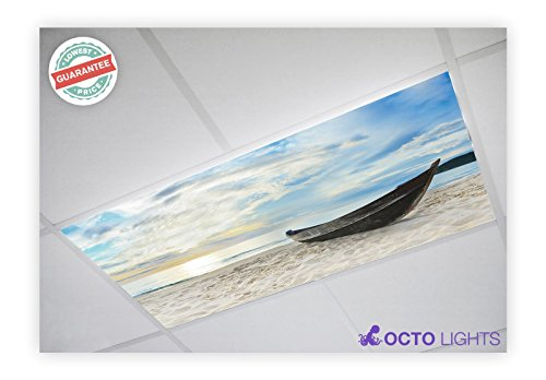 Beach 003 2x4 Flexible Fluorescent Light Cover - Decorative Fluorescent Light