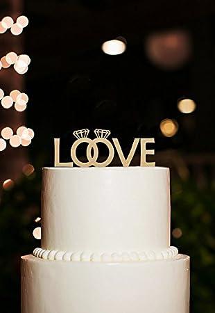 Love Cake Topper Paar Ringe Kuchendekoration Fur Hochzeitstorte