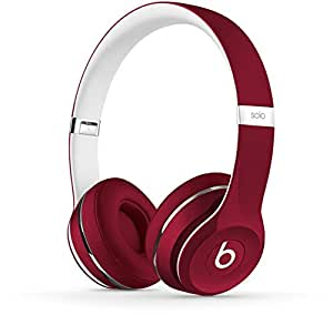 Beats Solo2 WIRED On-Ear Headphones Luxe Edition NOT WIRELESS - Red (Refurbished)