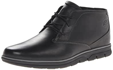 Timberland Men's Bradstreet Plain Toe Chukka Boot,Black,7 M US