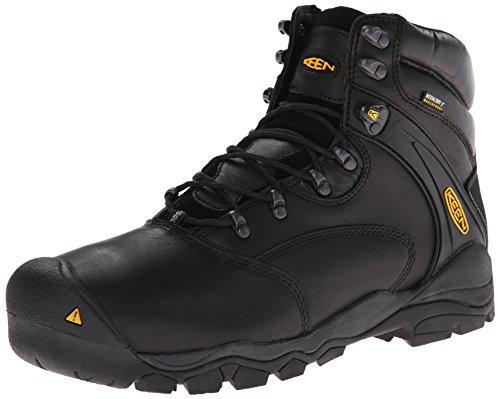 """KEEN Utility Men's Louisville 6"""" Steel Toe Work Boot,Black,"""