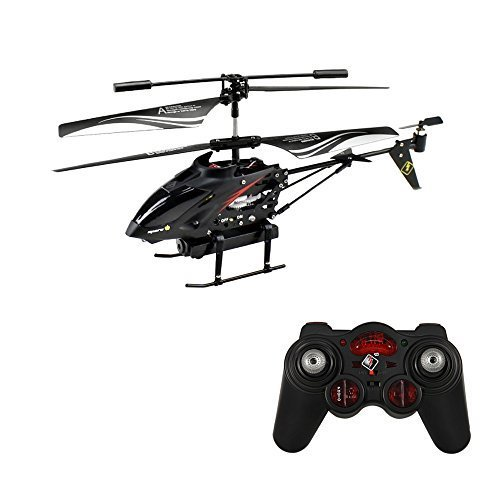 WLtoys S977 3.5 Ch Radio Remote Control Rc Metal Gyro Helicopter with Camera ()