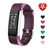 LETSCOM Fitness Tracker, Activity Tracker with Heart Rate Monitor, Step Counter, Sleep Monitor, Calorie Counter, Pedometer, IP67 Waterproof, Smart Watch for Kids Women and Men