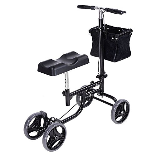 Steerable Knee Scooter Walker Medical w/ Basket & Brake