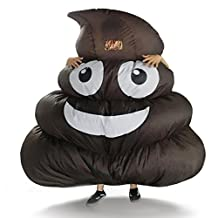 DREAMOWL Giant Poop Emoji Inflatable Costume for Adult Kids Halloween Party Game