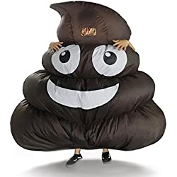 Inflatable Giant Poop Emoji Costume for Adult Kids Halloween Party Game