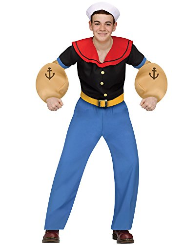 [Popeye the Sailor Man Teen Costume] (Girl Popeye Costume)