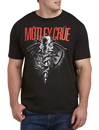 True Nation by DXL Big and Tall Motley Crue Graphic Tee, Black, 6XLT