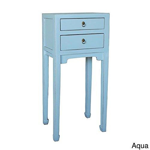 Antique Revival Antonio Side Table, Aqua