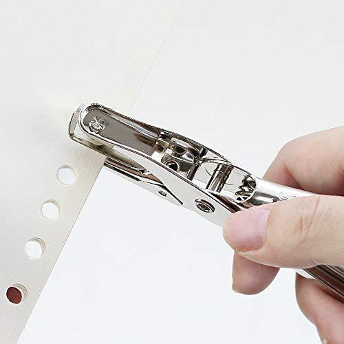 lavoro cancelleria in metallo 3 mm album carta biglietti dauguri per fai da te BE-TOOL 1 foro Perforatore manuale per carta appunti
