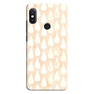Cover It Up - Raindrops Print Orange Redmi Note 5 Pro Hard Case
