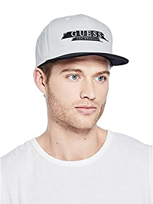 GUESS Factory Men's Color-Block Logo Hat by GuessFactory