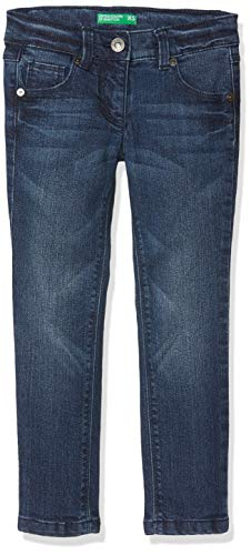 United Colors of Benetton Trousers, Pantalones para Niñas Negro (Black 901)