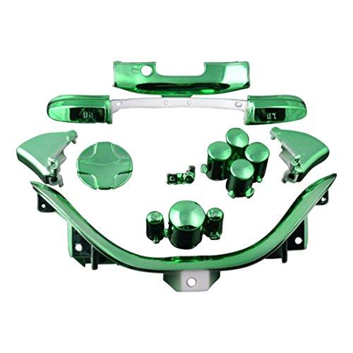 ModFreakz™ D-PAD RT LT RB LB ABXY Start Back Sync Trim Chrome Green For Xbox 360 Controller by Mod Freakz