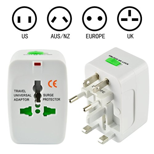 BlueTop All in One Universal World Wide Lightweight Portable Travel Wall Charger AC Power Plug Adaptor for US UK EU AU Suitable for Over 150 Countries (Unlock Service Iphone Japan compare prices)