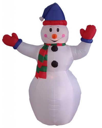 BZB Goods 6 Foot Christmas Inflatable Snowman Yard Decoration Lights Decor Outdoor Indoor Holiday Decorations, Blow up Lighted Yard Decor, Lawn Inflatables Home Family Outside