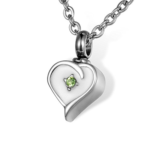 HOUSWEETY Stainless Cremation Necklace Memorial