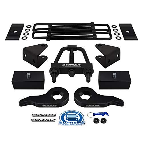 Supreme Suspensions - Full Lift Kit for Silverado 1500HD 2500HD 3500HD [8-Lug] Adj. 1-3