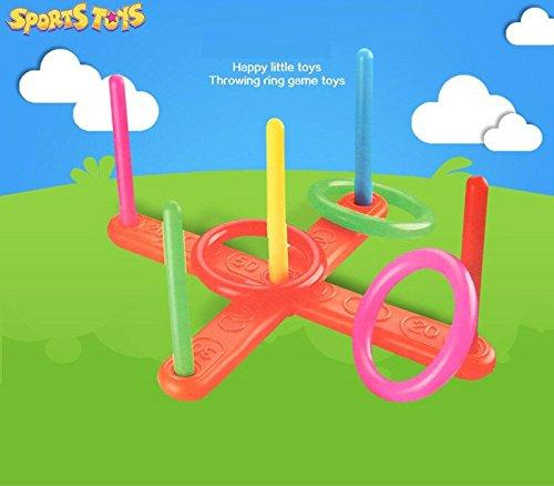 Puzzle Dekompression Spielzeug,ALIKEEY Hoop Ring Toss Kunststoff Ring Toss Quoits Garten Spiel Pool Spielzeug Outdoor Fun Set