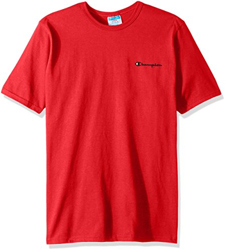 Champion LIFE Men's Heritage Tee, Team Red Scarlet/Left Chest Champion Script, Small ()