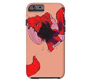 poppy iPhone 6 Dark salmon Tough Phone Case - Design By Humans