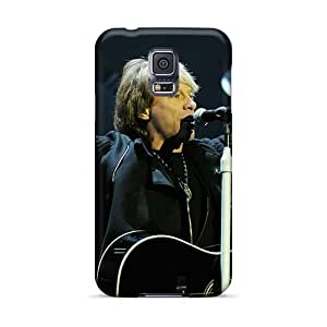 Durable Cell-phone Hard Covers For Samsung Galaxy S5 (hOj17741MbEd) Support Personal Customs Realistic Bon Jovi Band Series