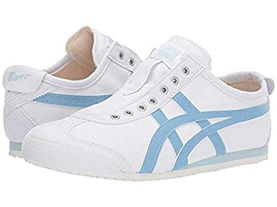 acbe72501eaad Amazon.com | Onitsuka Tiger Women's Mexico 66 Slip-On White/Blue ...