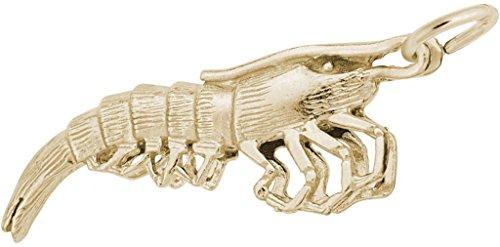 Rembrandt Shrimp Charm - Metal - 14K Yellow Gold (Shrimp 14k)