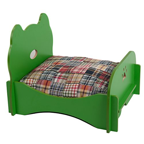 Favorite Pet Bed Ventilated Base Wood Furniture, Green Review