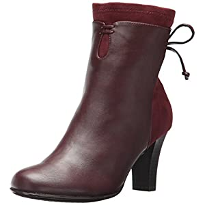 Aerosoles A2 Women's Leading Role Ankle Boot Wine Combo 10.5 M US