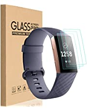 HEYUS [3 Pack] for Fitbit Charge 4 3 Compact TPU Hardness LCD Screen Protector Guard Film Activity Tracker No Bubbling Scratch Resistant Full Edge to Edge Coverage Screen Covers for Fitbit Charge 4/Charge 3