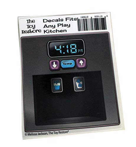 The Toy Restore Replacement Stickers Spare Decals Fits IKEA DUKTIG Play Kitchen Microwave Dial