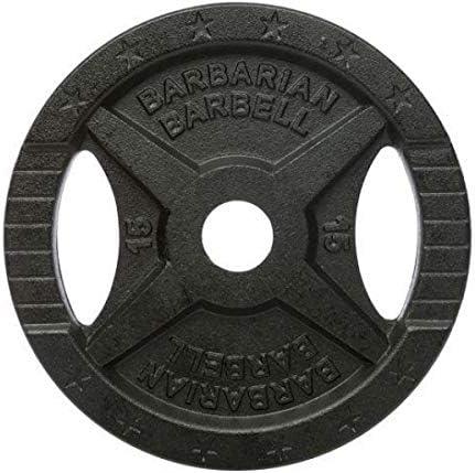 Original Barbarian* Discos de peso 15 kg - fundición 50 mm: Amazon.es: Deportes y aire libre