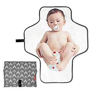 BABEYER Baby Portable Changing Pad, Large Waterproof Diaper Changing Mat, Travel Mat Station for Toddlers Infants & Newborns