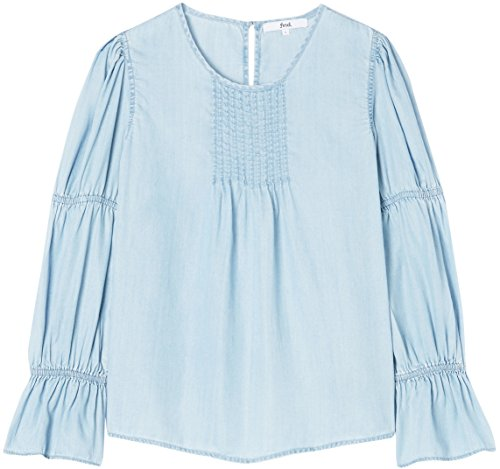Manica Blu Girocollo a Blue FIND Shirt T Lunga Donna 7wIHq