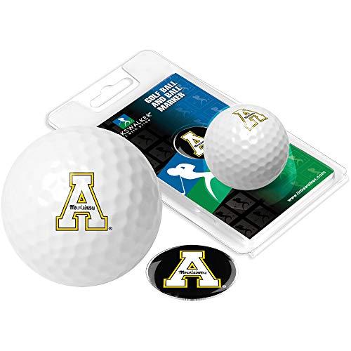 NCAA Appalachian State Mountaineers - Golf Ball One Pack with Marker Appalachian State Mountaineers Golf