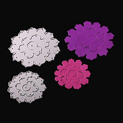 Residen Dies for Die Cutting- DIY Album Paper Card Craft Embossing Die Cut Tools(A:3D flowers)