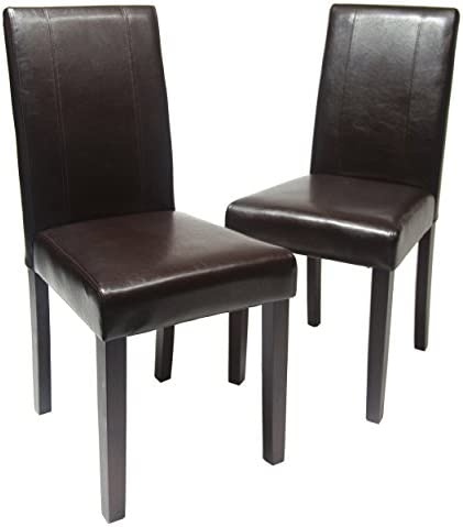 picture of Roundhill Furniture Urban Style Solid Wood Leatherette Padded Parson Chair