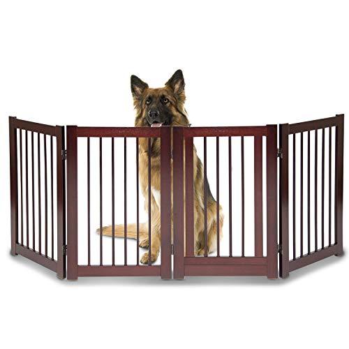 """Large Dog Pet Gate Fence - 30"""" H x 80"""" Wide Dog Baby Gates f"""