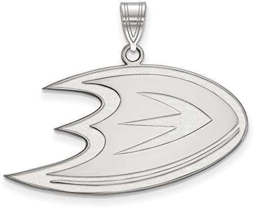 Sterling Silver NHL Anaheim Ducks Large Pendant by LogoArt